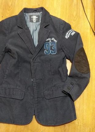 Вельветовый пиджак h&m 128-134 размер