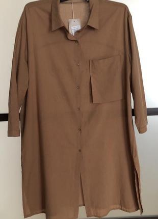 Рубашка удлинённая туника италия