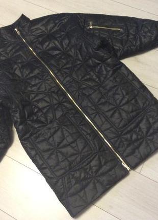 Тёплая куртка полупальто оверсайс philipp plein