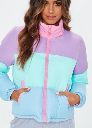 ❗️скидки уже в профиле❗️ нереально крута куртка в стилі colourblock missguided