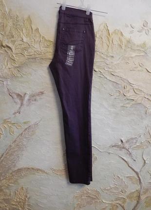Стильные штаны, джинсы, брюки слим с легким блеском на 46-48 р, тсм чибо (германия)