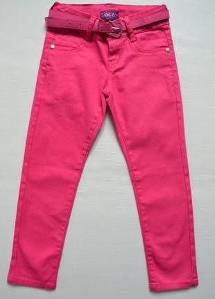 Яркие брюки скинни для девочки