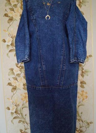 Обалденное джинсовое платье италия