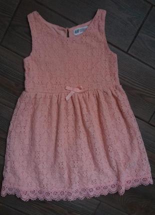 Платье н&м на 104-110см в отличном состоянии 4-5лет