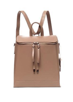 Трансформер сумка - рюкзак, итальянская кожа. цвет какао. модель весна 2019.2