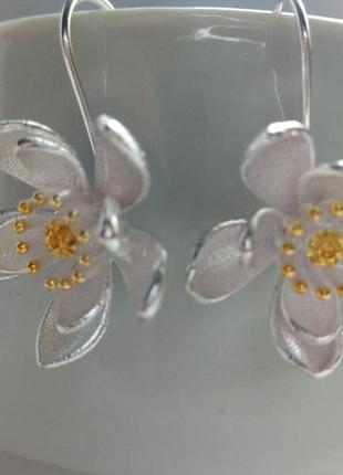 Серьги-протяжки, серебро 925
