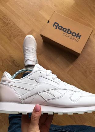 Оригинал reebok leather white кроссовки2 фото