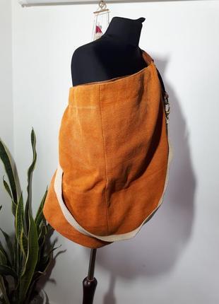 Большая итальянская сумка-мешок laura di maggio