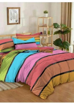 Королевский набор постельного белья, 2- спальный, насыщенный цвет, в наличии