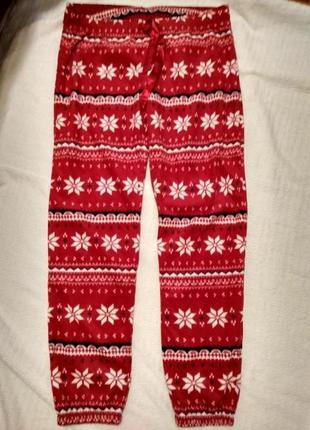 Новые пижамные флисовые штаны h&m