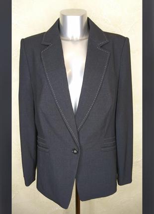 Бирка черный серый офисный пиджак m&s 3xl 18 батал