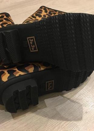 Резиновые сапоги леопардовый принт juju2 фото