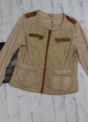 Красивая ажурная куртка cream винтажный стиль