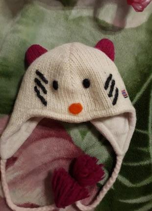 Тепленька шапка 6-9міс