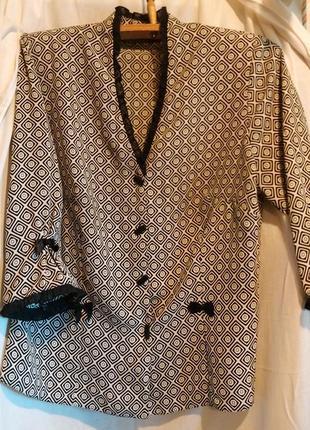Шикарная нарядная деловая офисная блуза рукав 3\4 с v-образным вырезом блузка