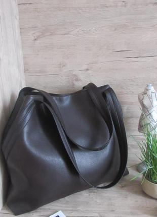 Оригинальная сумка-шоппер ,цвета- шоколад