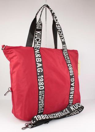 Легкая спортивная, дорожная сумка emkeke 977 красная, расцветки
