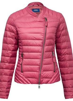 Куртка косуха мастерка ветровка пух перо 90% утепленная осень-весна cecil l xl xxl