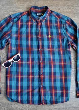 Оригинальная стильная рубашка lyle & scott ® размер : m -l (по бирке : l)