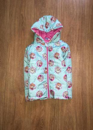 Легкая деми куртка disney frosen, оригинал, будет на 4-6 лет