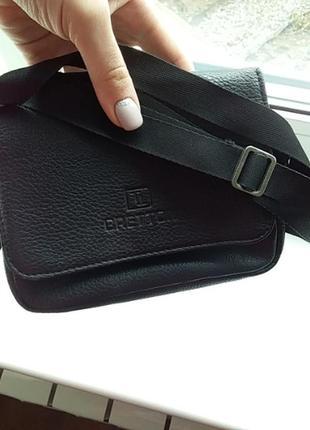Мужская сумочка барсетка на длиной ручке1 фото