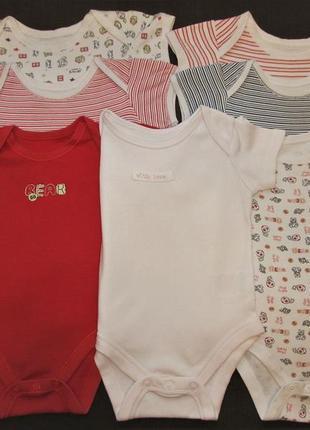 Пакет одежды ( боди с коротким рукавом) для девочки 3-6 мес.