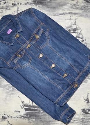 Пиджак джинсовый для девочки 12-13 лет