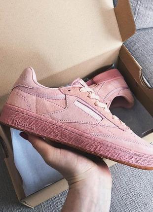 Женские кроссовки club c  vintage pink