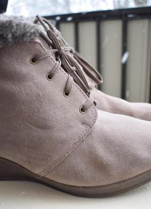 Замшевые ботинки ботильоны footglove р.6 1/2 р.40 26 см англия