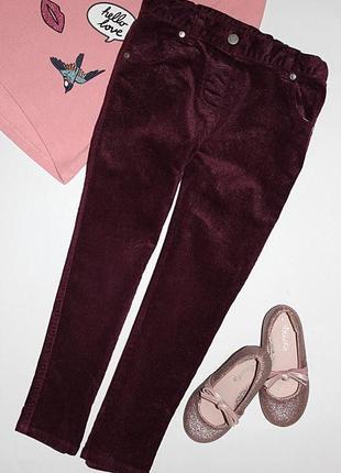 Вельветовые джинсы с блестящей нитью tu 4-5 лет, р.104-110