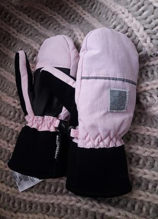 Краги ,перчатки с полярным утеплителем thinsulate розовые 2-4 лет