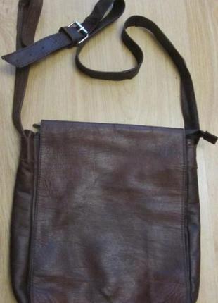 Мужская кожаная сумка - планшет.