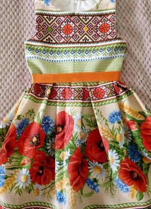 Плаття з маками 98-122 розмір