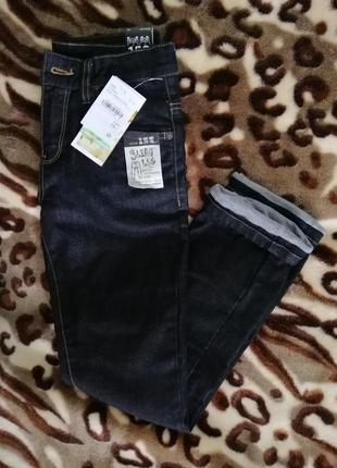 Утеплені чорні джинси нові!!!