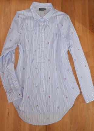 Рубашка женская с воланчиками -рюшами