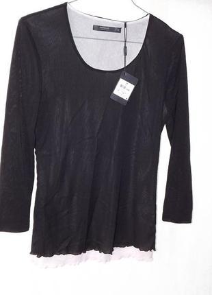 Кофточки, блузки чёрная с белой сеткой manguun, германия 38,42 р.