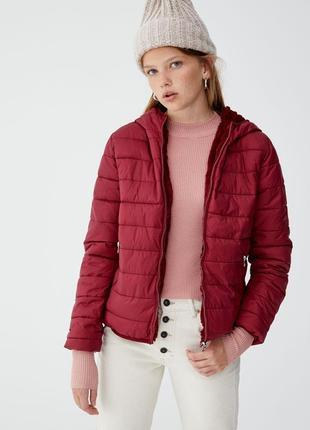 ❤️распродажа до 20.06❤крутая деми куртка, эко шубка от pull&bear - р-ры с, м - на хс, с