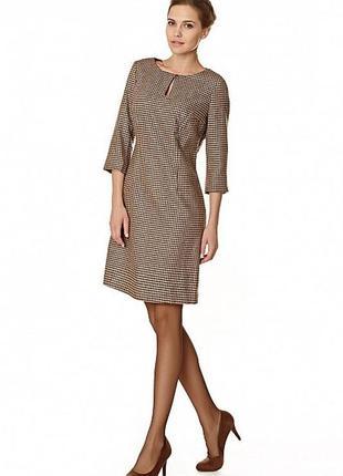 Новое тёплое платье с бирками в трендовую клетку baon