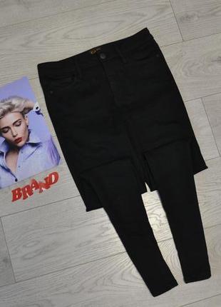 Стильные скинни джинсы с высокой посадкой талией