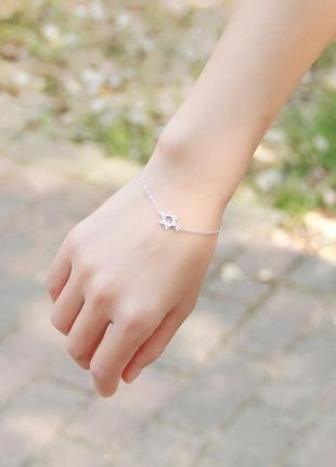 Утонченный браслет для подарка день всех влюбленных звезда давида изящное украшение