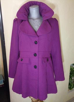 Красивое пальто-деми,батал,50-52 размер