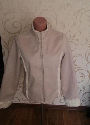 Куртка дубленка с мехом moto jeans англія