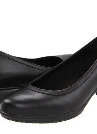 Туфли crocs (оригинал) кожаные