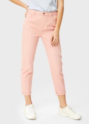 Розовые летние джинсы мом ostin