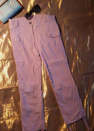 Розовые штаны укороченные бриджи 46-48р.