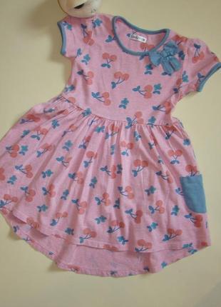 Милое розовое платье ladybird 5-7 лет
