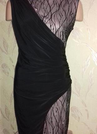 Вечернее платье, эластичное, кружево глитер
