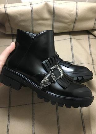 Маскулинные ботинки с пряжкой😍 грубые ботинки, ботинки на грубой подошве