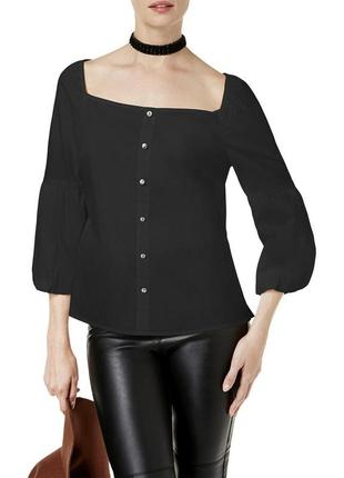 "Рубашка блуза ""готика"" с трансформирующимся  декольте ""каре"" и рукавами ""бишоп"""