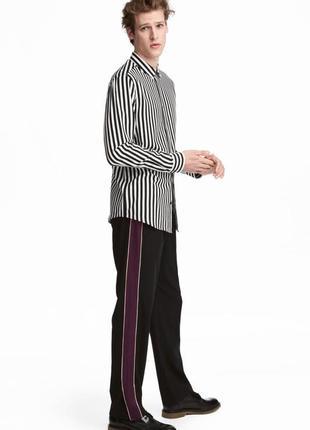 Широкие брюки с лампасами h&m 50(m) 532906